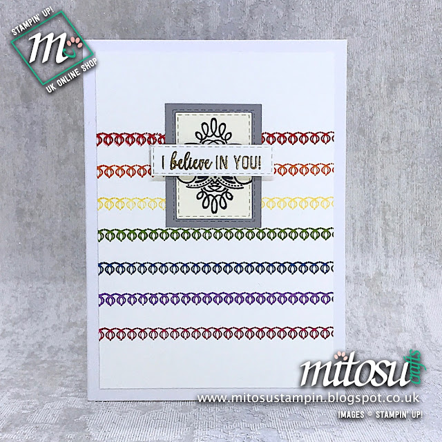 Amazing Life Stampin' Up! I Believe Rainbow Card Idea. Order Cardmaking Products from Mitosu Crafts UK Online Shop 24/7