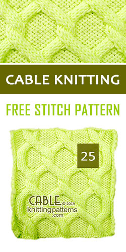 Cable Knitting Free Stitch Pattern 25