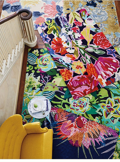 unique colorful rugs in the bohemian style