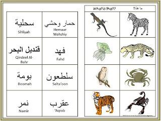 a muslim child is born animals arabic vocabulary activities. Black Bedroom Furniture Sets. Home Design Ideas