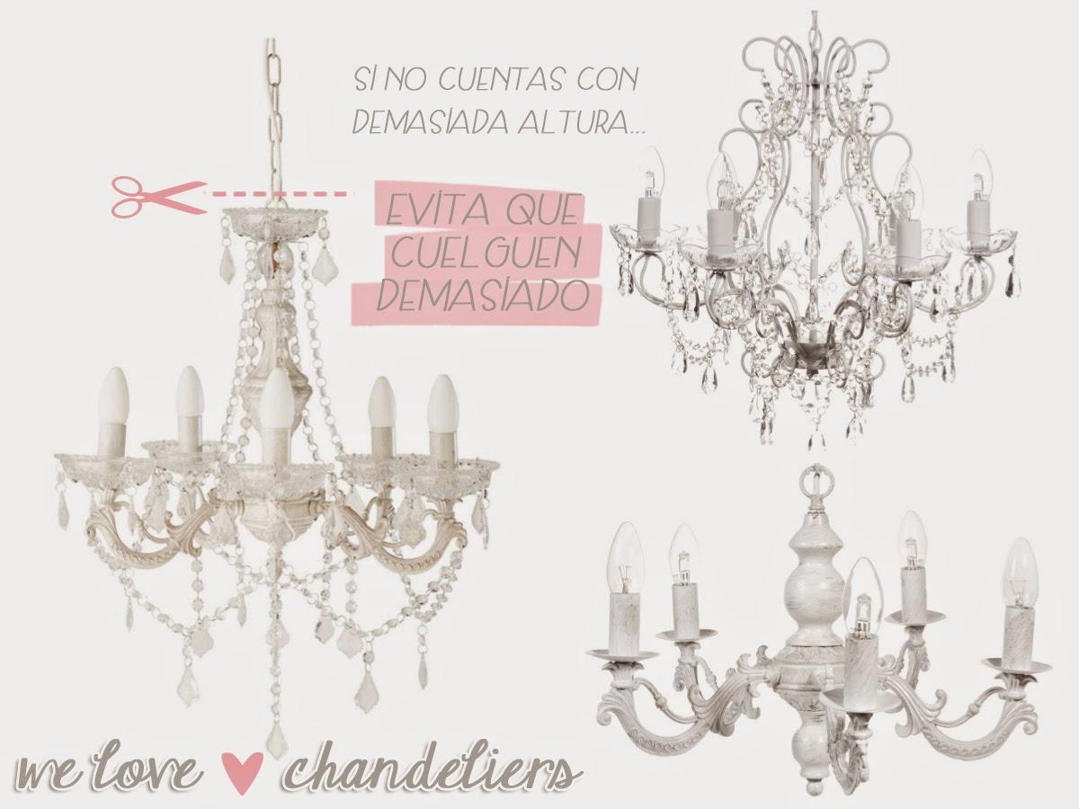 decoración de dormitorio y salón lámparas araña