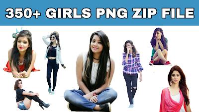 350+ Girl PNG ZIP FILE.