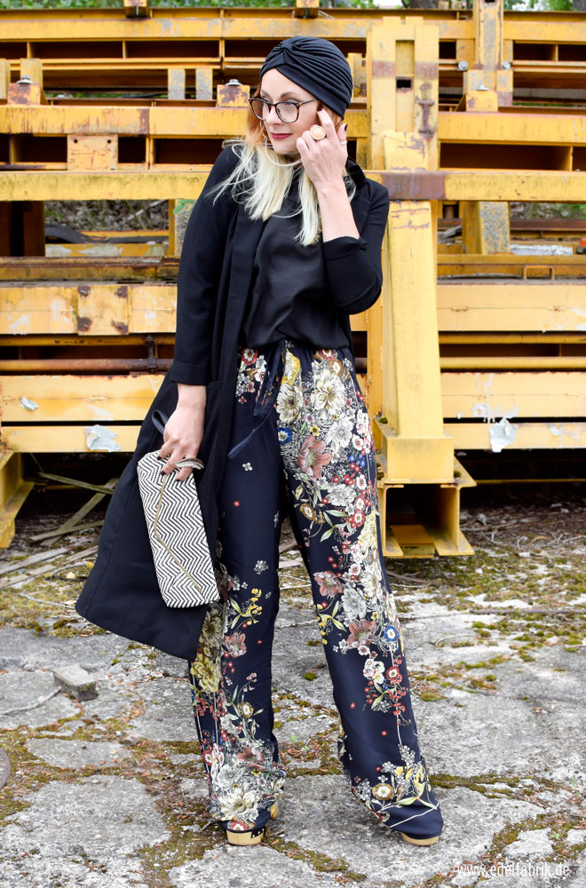 Blumenhose von Zara, Muster
