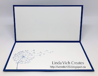 Linda Vich Creates: Dandelion Wishes Thank You. Dandelion Wishes, Blueberry Bushel and silvery glitteriness combine to produce a stunning thank you card!