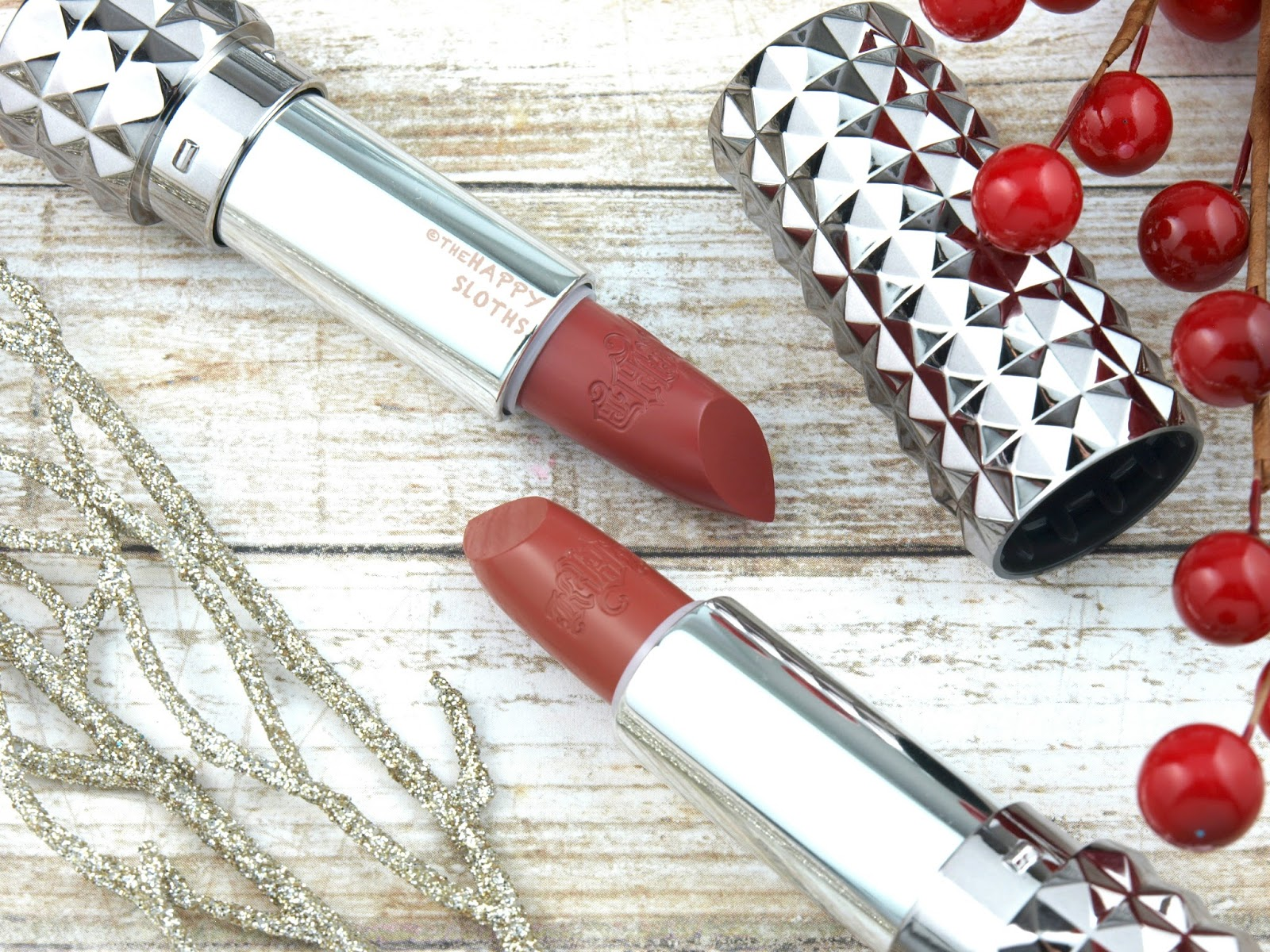 Kat Von D Studded Kiss Lipstick Lolita II & Double Dare: Review and Swatches