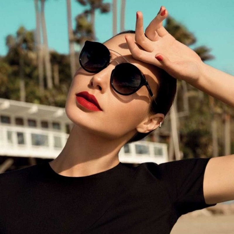 Actress Gal Gadot poses in sunglasses for Erroca eyewear campaign