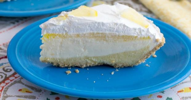No-Bake Lemon Cheesecake Pudding Pie Recipe
