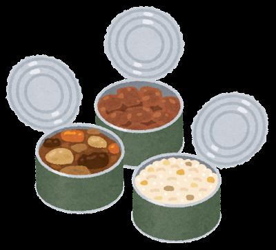 缶詰に入った食事のイラスト(レーション)