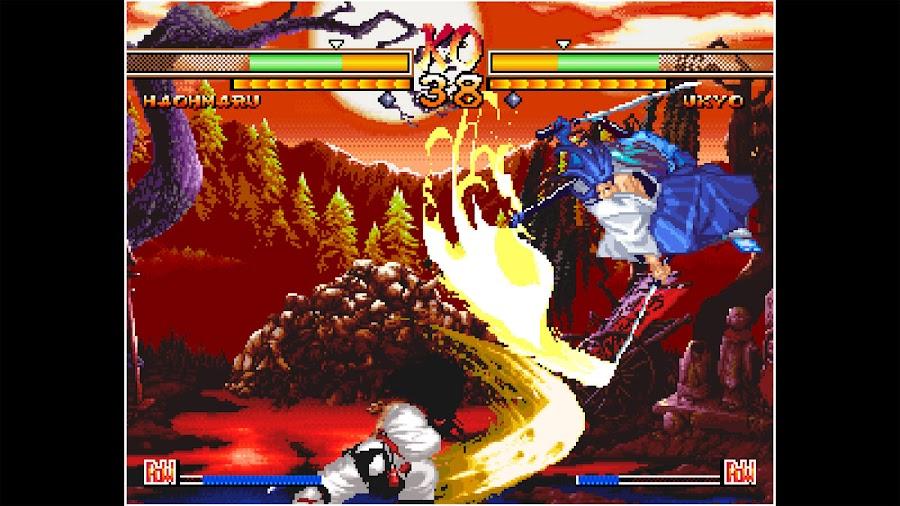 aca neo geo samurai shodown v special haohmaru vs ukyo tachibana