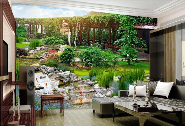 natur tapet landskap fototapet vardagsrum