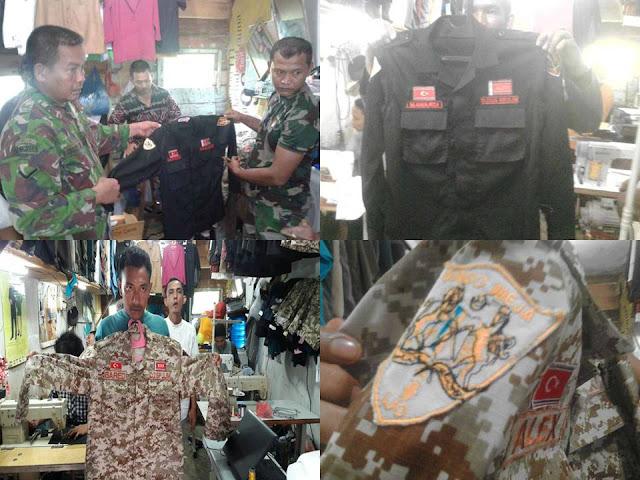 TNI Amankan Baju Seragam Berbordir Bendera Bulan Bintang