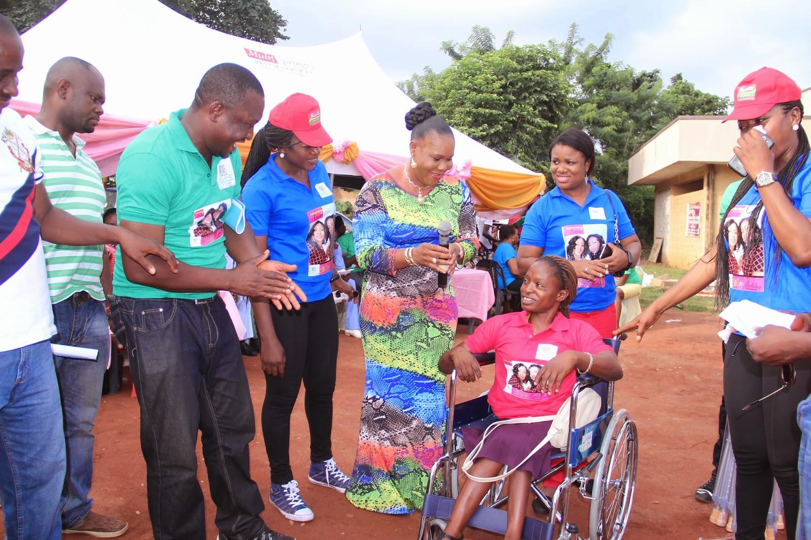 wheelchair jumia desk chair teenager photos aneke twins celebrates birthday with orphans