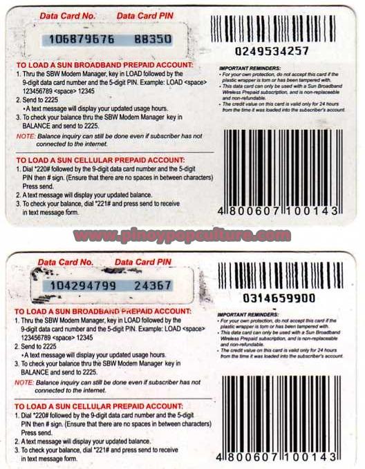 sun cellular scratch card load card sun broadband card iya villania - Load Prepaid Card