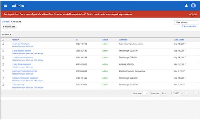 Tiba-Tiba Google Adsense Earnings at risk