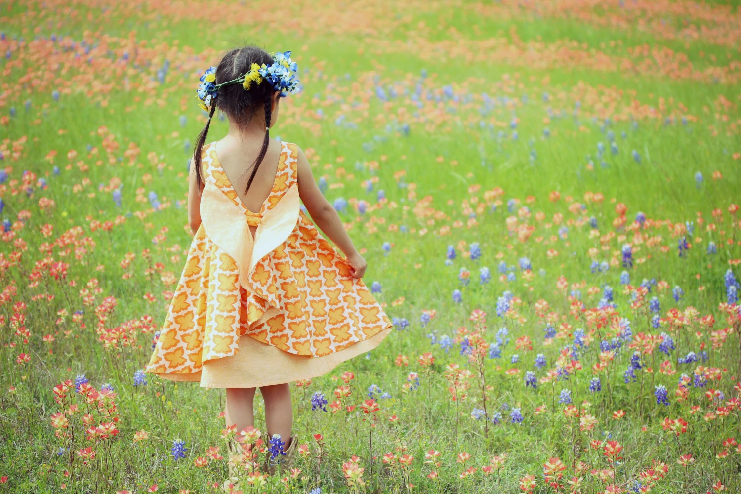 Secret Garden: Peaches And Bees: Butterfly Secret Garden Dress For Little