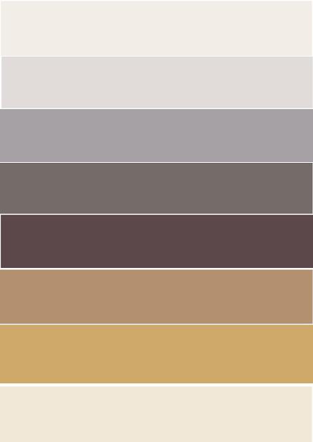 paleta de colores, gris, blanco, mostaza y beige
