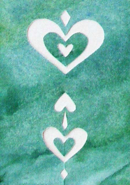 Vihreä sydänkortti