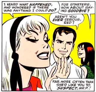 Amazing Spider-Man #55, john romita, gwen stacy and mary jane watson engage in verbal sparring