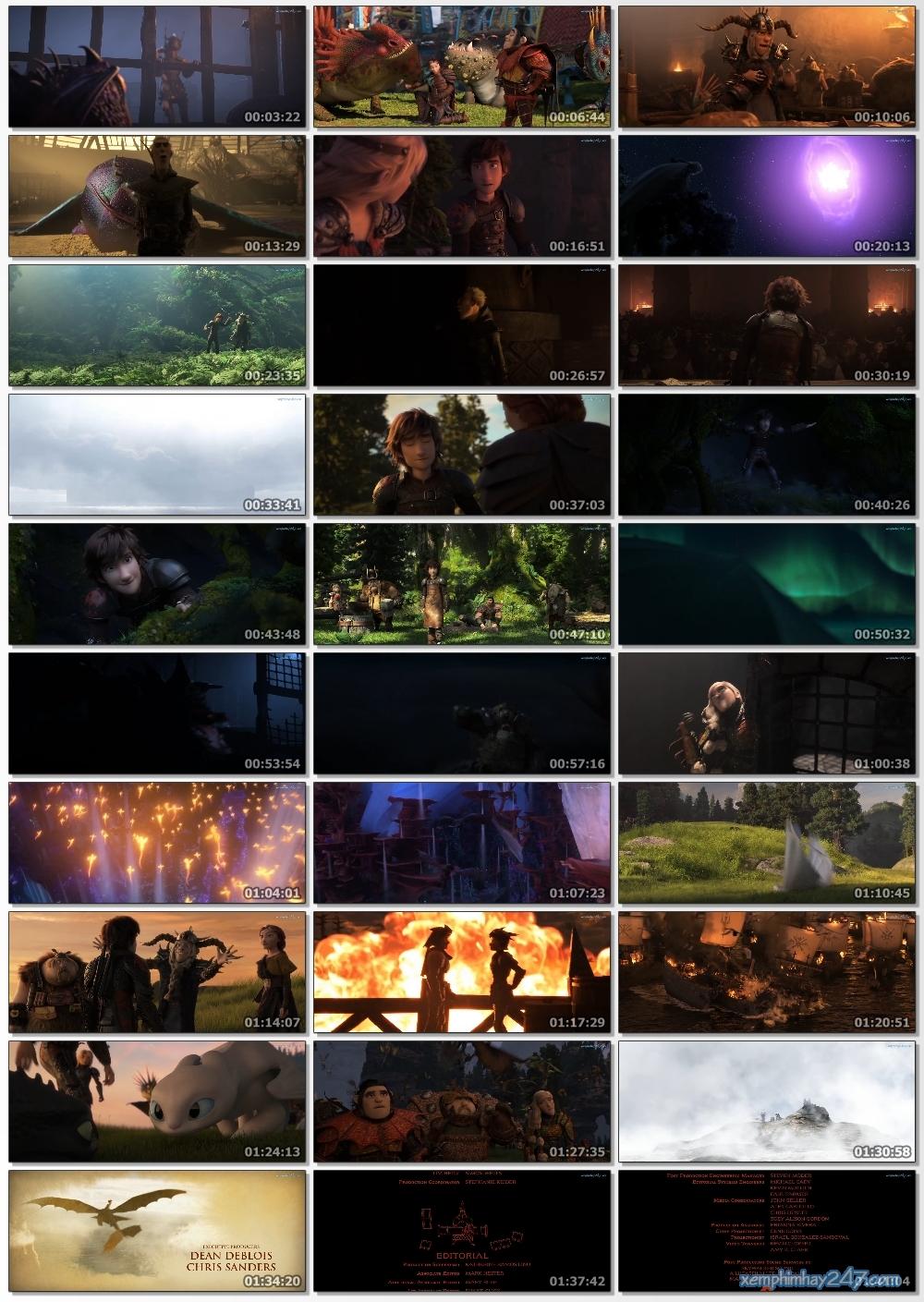 http://xemphimhay247.com - Xem phim hay 247 - Bí Kíp Luyện Rồng 3: Vùng Đất Bí Ẩn (2019) - How To Train Your Dragon 3: The Hidden World (2019)