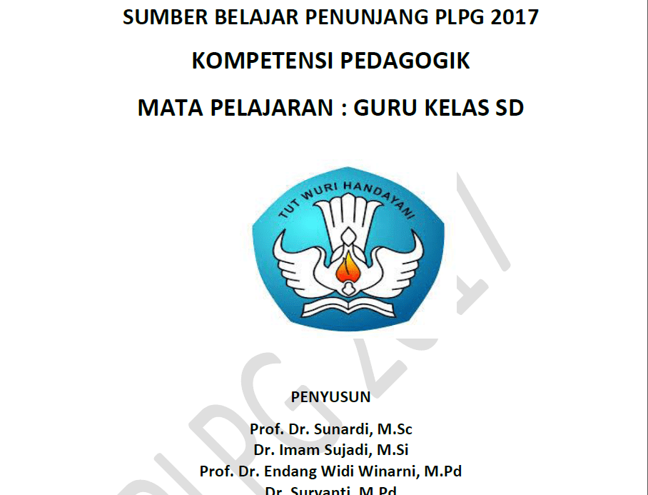 Download Modul Materi Pedagogik PLPG 2017 Guru SD