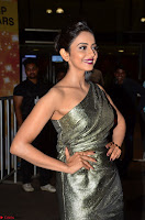 Rakul Preet Singh in Shining Glittering Golden Half Shoulder Gown at 64th Jio Filmfare Awards South ~  Exclusive 007.JPG