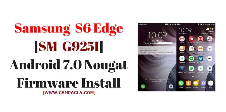 Samsung Galaxy S6 Edge Sm G925i Original Firmware