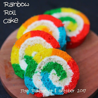Ide Resep Membuat Rainbow Roll Cake Colourful