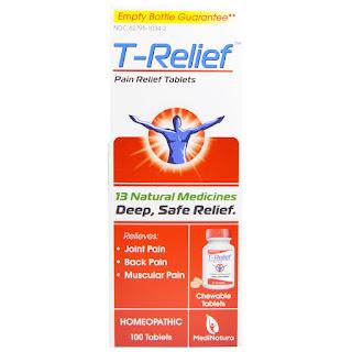 كبسولات لعلاج نفس الالام السابقه  MediNatura, T- Relief, Pain Relief Tablets, 100 Tablets