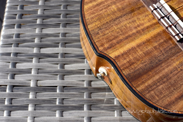World Of Ukes Pioneer T1 Tenor Ukulele tail