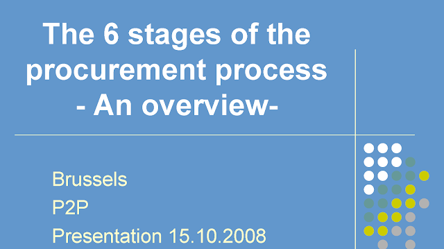 The 6 stages of the procurement process