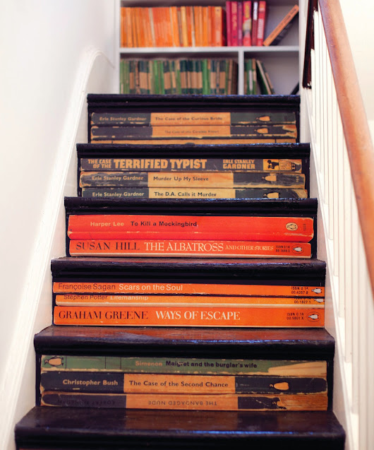 a bookcase-staircase