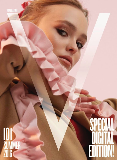 Actress, Model, @ Lily-Rose Depp - V Magazine Summer 2016