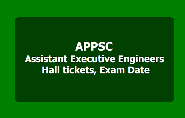 APPSC AEE Hall tickets