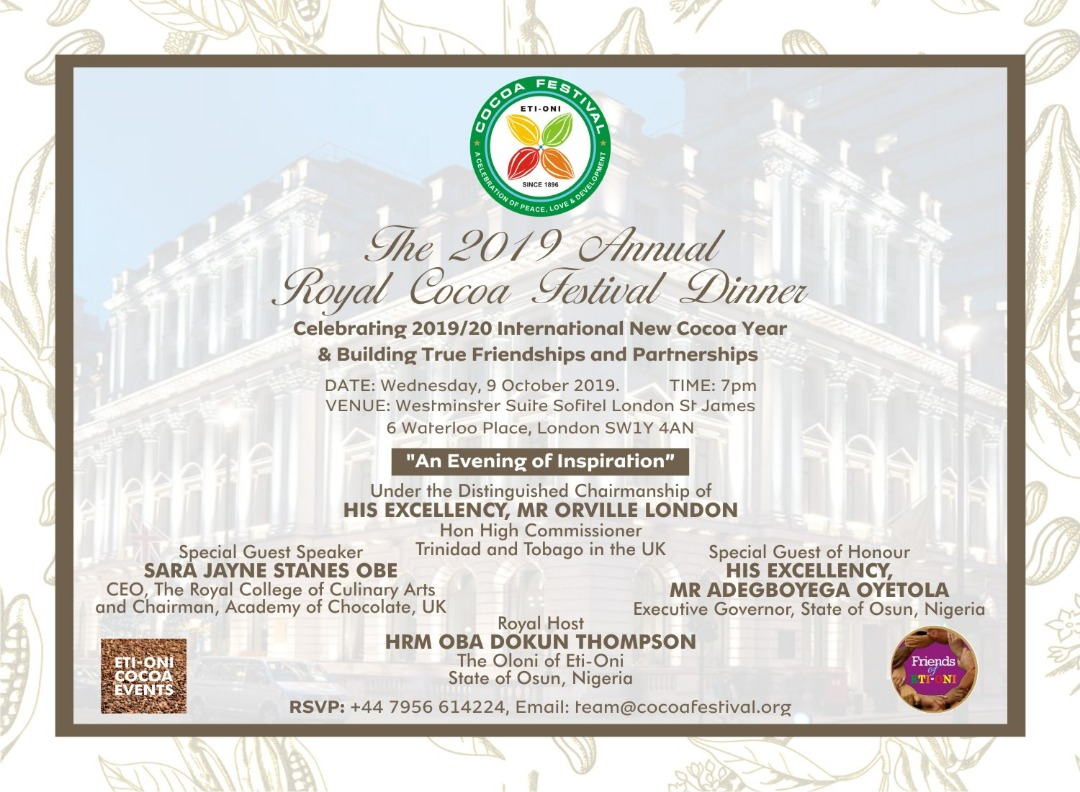 The 2019 Annual Royal Cocoa Festival Dinner