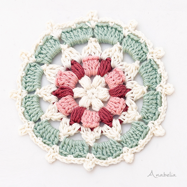 Crochet circle motif 3/2018 by Anabelia Craft Design