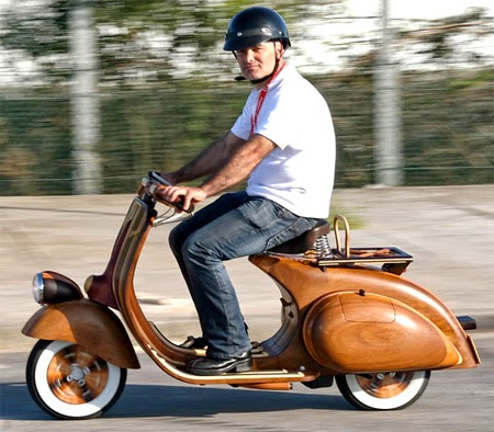 Wooden Vespa Seen On www.coolpicturegallery.us