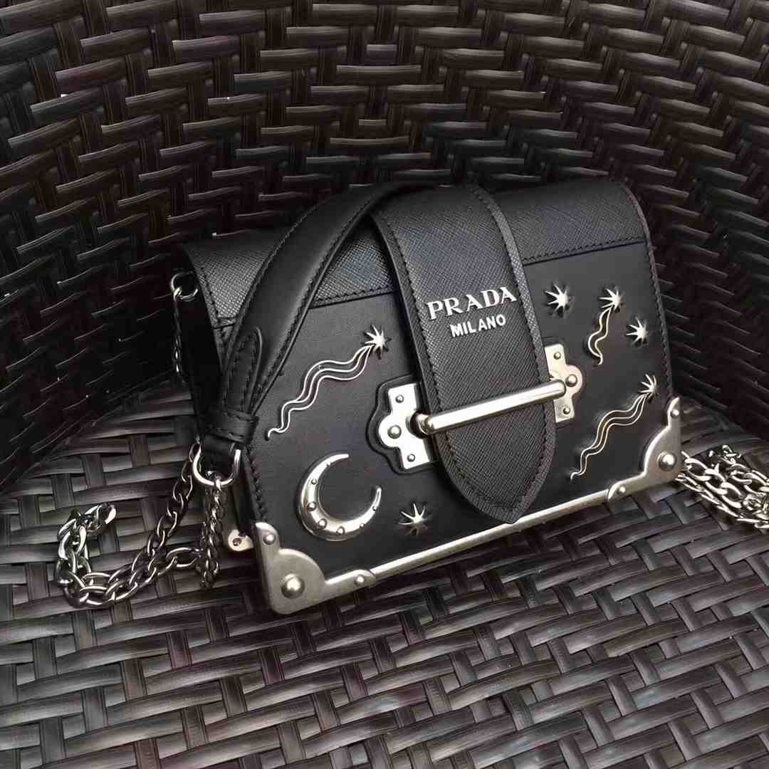 e9247dde1 Daily New:Prada Cahier mini chain bag in saffiane and city leather