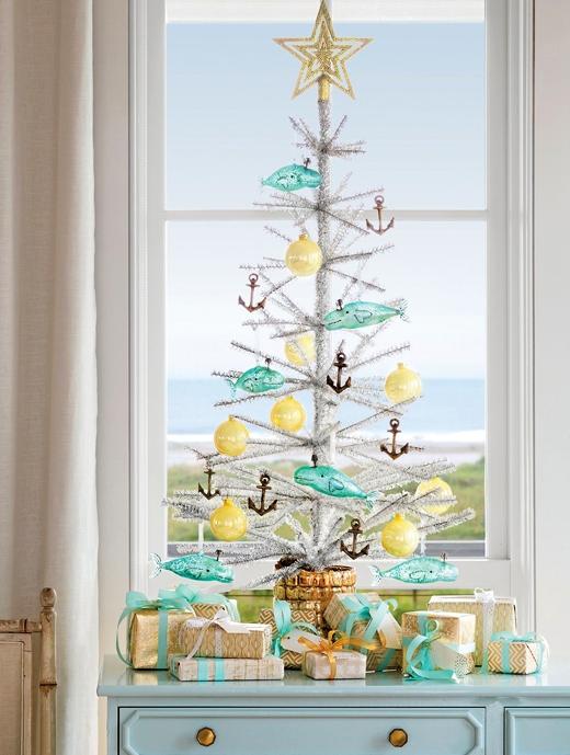 White Tinsel Christmas Tree