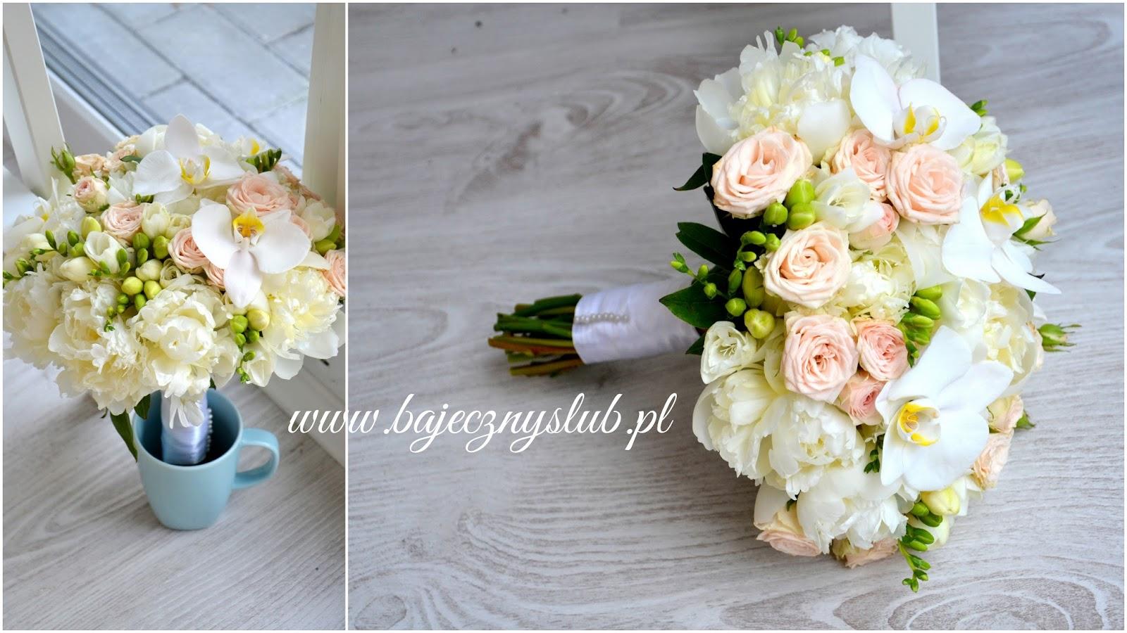 Bajeczny lub widnica Wizanka bukiet lubny kwiaty na lub widnica frezja  ryczka