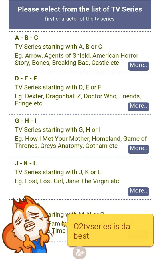 O2tvseries TV Shows and series downloads