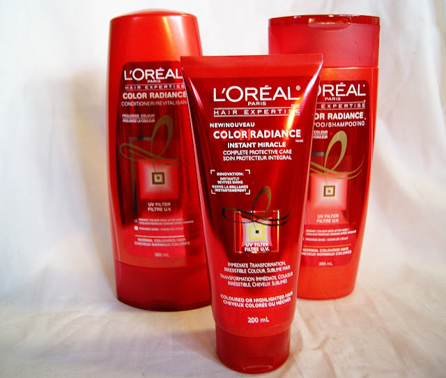 Hair Expertise  Color Radiance Shampoo, Conditioner, Instant Miracle Treatment, Haircare, Review, Influnester, Beauty, Toronto, Ontario, Canada, The Purple Scarf, Melanie.Ps