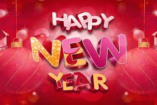 New Year Greetings Card Handmade 2017