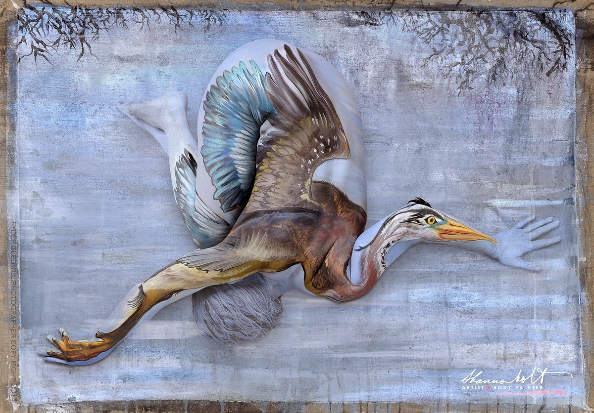 05-Blue-Heron-Shannon-Holt-Florida-Wildlife-Series-Bodypainting-www-designstack-co