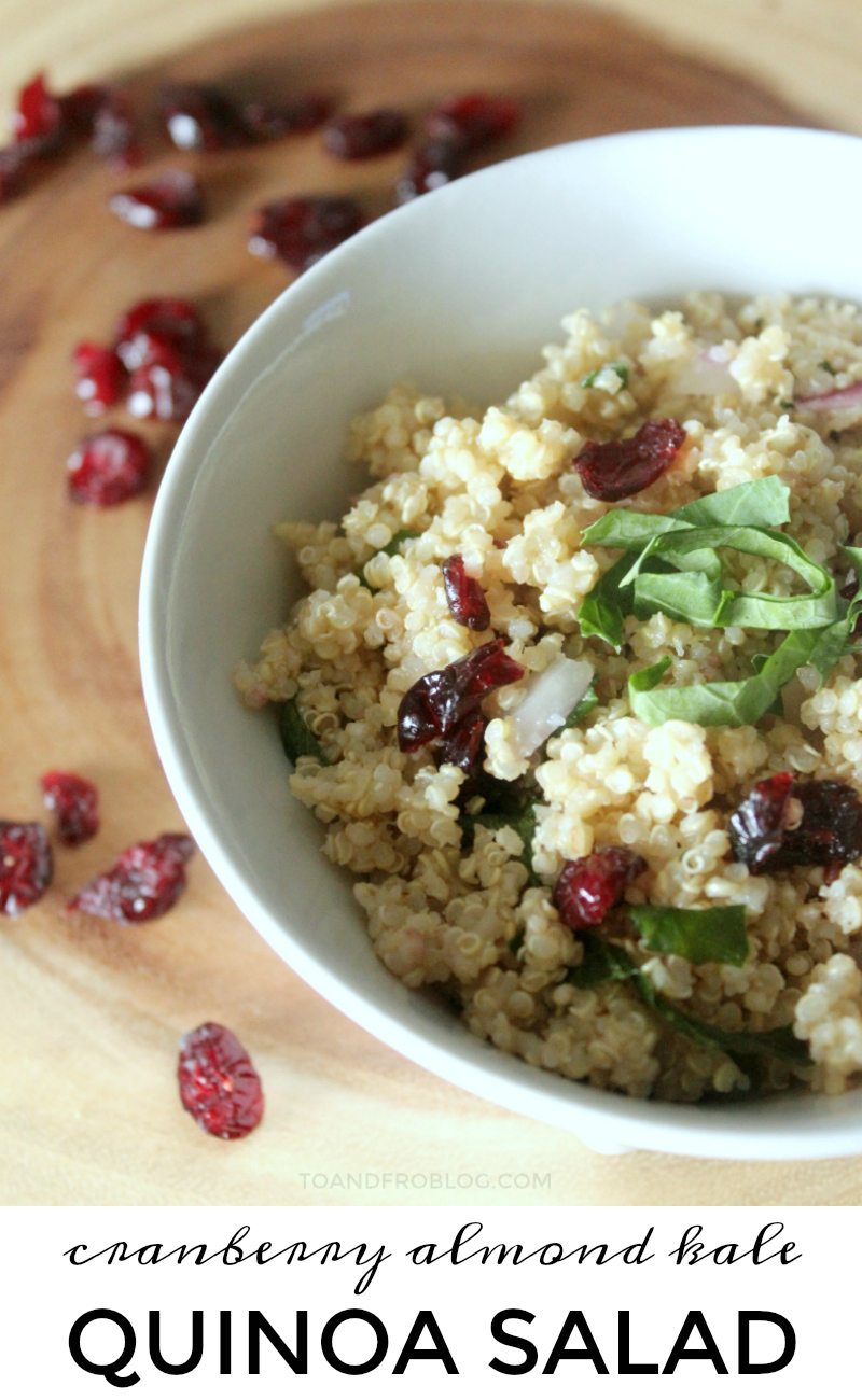 Cranberry Almond Kale Quinoa Salad