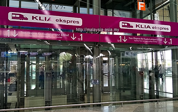 Platform for KLIA Express