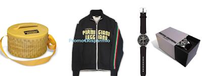 Logo Vinci gratis 100 premi brandizzati Parmigiano Reggiano con pochi click