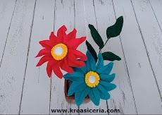 Tutorial Cara Membuat Bunga Gerbera dari Kain Flanel