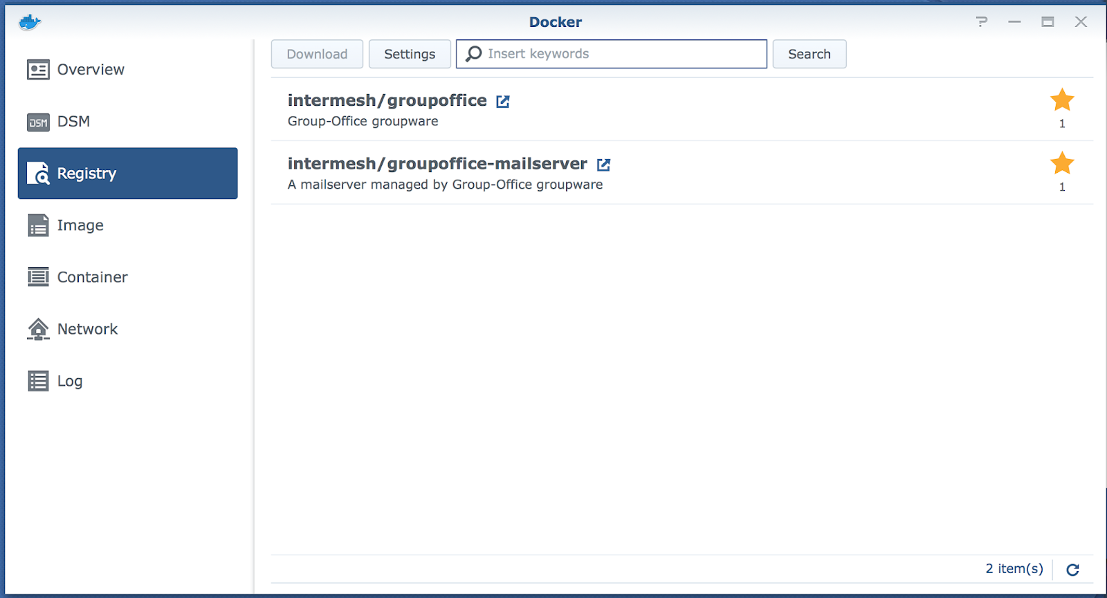 Group Office - Install Group-Office on a Synology NAS with Docker