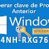 Como obtener la clave de producto de Windows