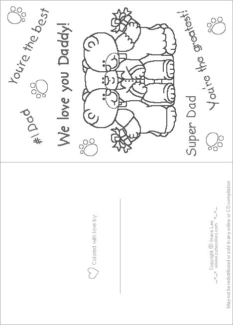 Children's Gems In My Treasure Box: Fathers Day Coloring